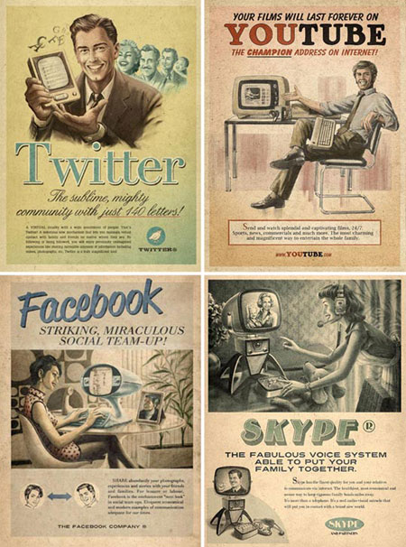 Faux Vintage Tech Ads