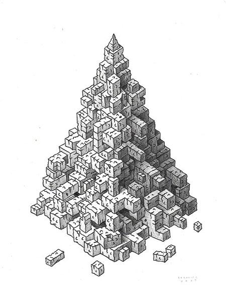 Graphite drawings by John Borowicz
