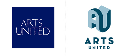 Arts United Unites logo redesign