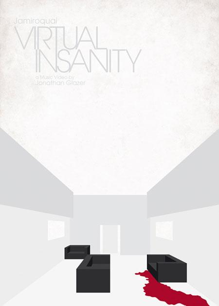 Minimalist music video posters