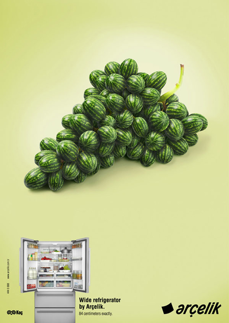 Arçelik Wide Refrigerator advertising