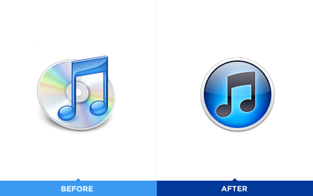 iTunes logo icon redesign