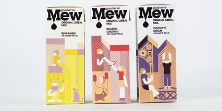 Mew cereal milk packaging