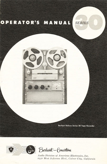 Phantom's Reel To Reel Tape Recorder OnLine Museum