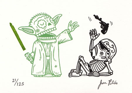 Star Wars characters as traditional mexican art
