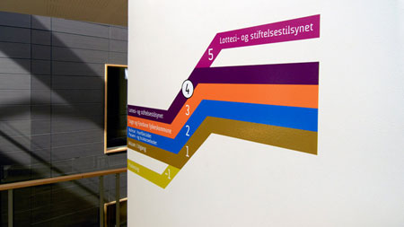 Brilliant signage design for government building, Norway
