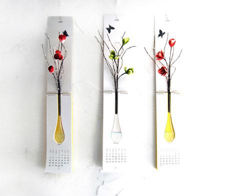 Calendar with vase