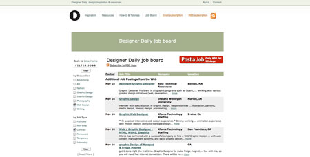 Now open: the Designer Daily job board