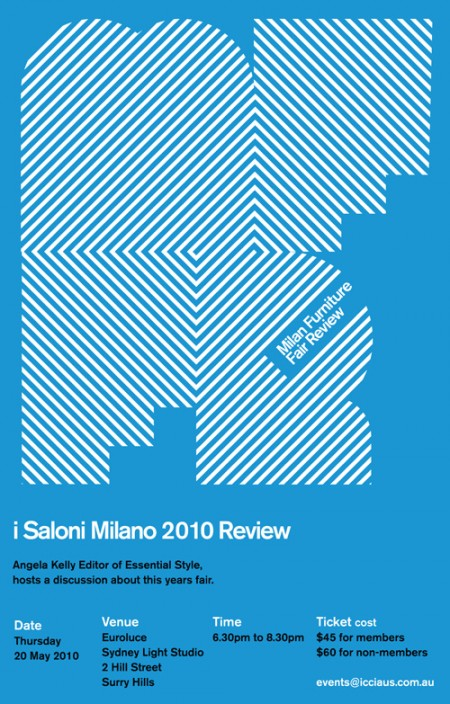 Milan furniture fair review invitation flyer