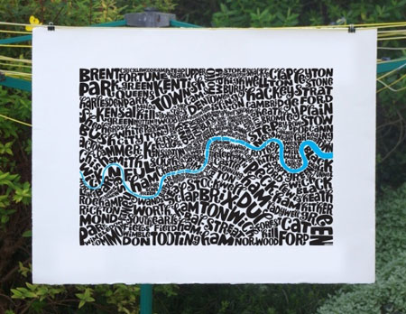 Seagull's Hutt typography maps