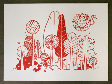 Sozi And Friends Letterpress Print