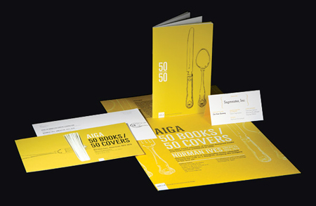 AIGA: 50 Books/50 Covers Exhibition Collateral