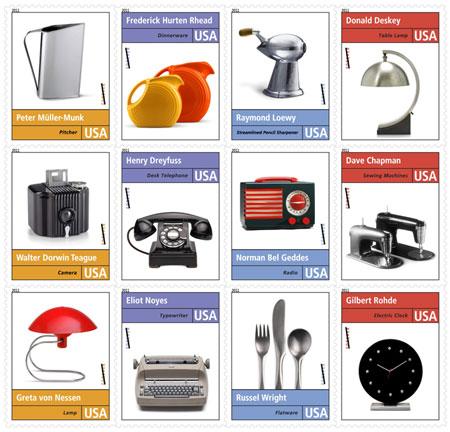 Pioneers Of American Industrial Design Stamps