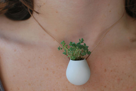 Potted Plant Necklace by Colleen Jordan
