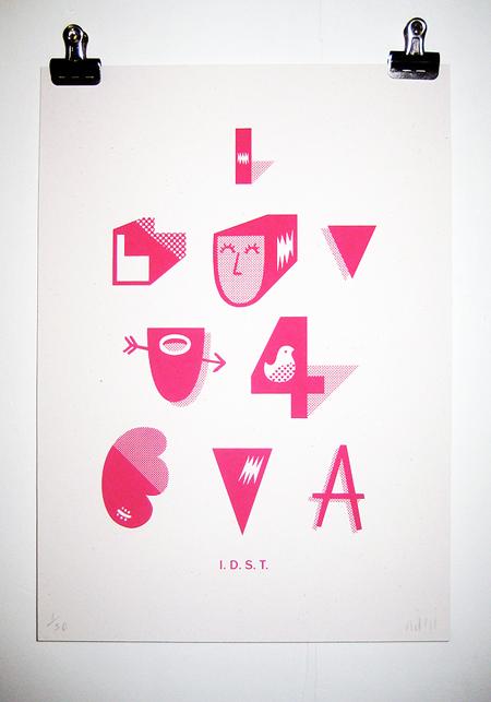 I love u 4 eva poster