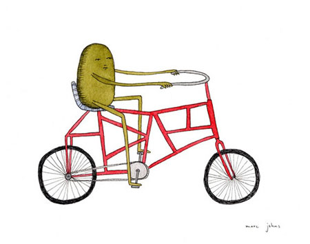 Complicated bicycle