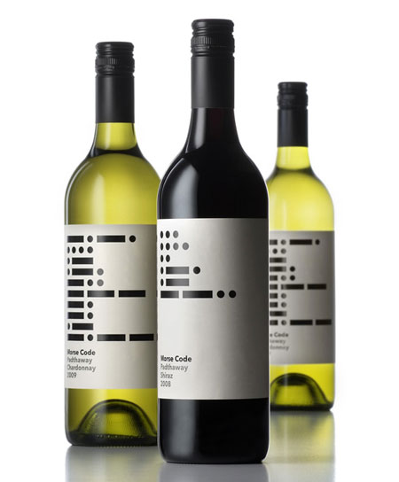 Morse code wine label