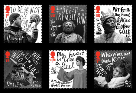 Royal Mail stamps by Rebecca Sutherland