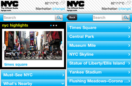 NYC Mobile Site