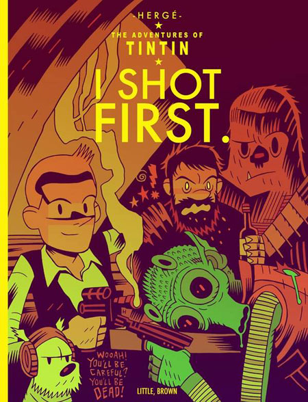 Science fiction films as Tintin covers