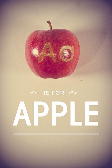 Typefruitography by Garret Steider