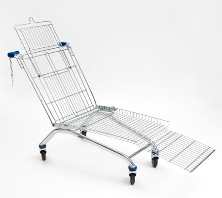 Shopping cart lounger by Mike Bouchet