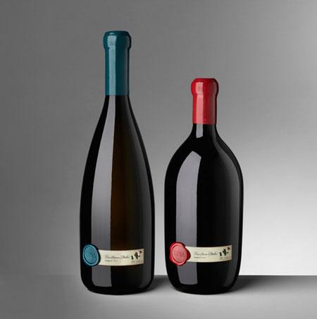 UNA wine bottle design