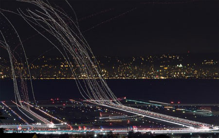 Long Exposure photography at airports