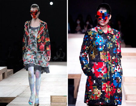 Pixelated fashion by Kunihiko Morinaga
