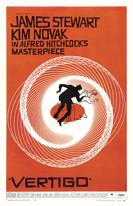 Various designs by Saul Bass for the Vertigo movie poster