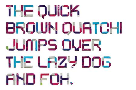 BD shred font