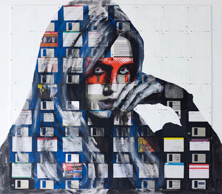 Floppy disk portraits