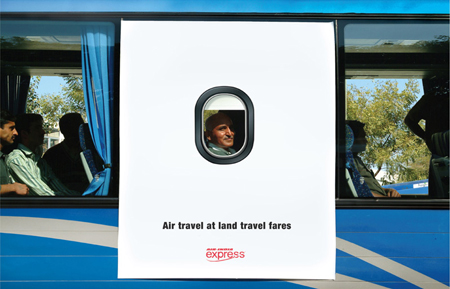Air India bus advertising