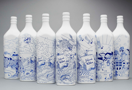 Whisky bottles illustrations