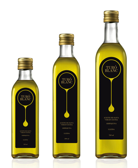 Olive oil label concept