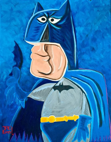 What if Picasso painted superheroes?