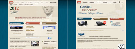 Fail: french presidential candidate uses funeral consulting website template