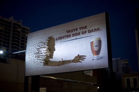 Newcastle Brown Ale billboard