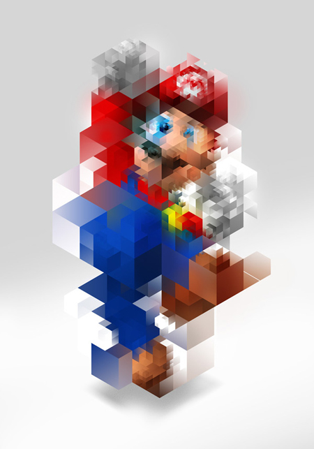 Super Mario pixellized