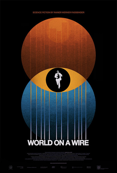 World on a wire poster design process