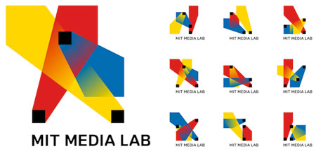 Experimental logo for the MIT's Media Lab