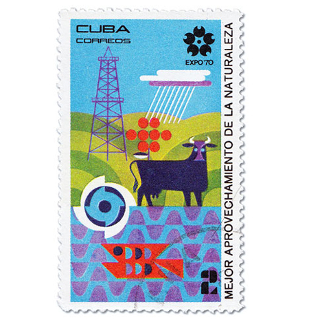 Cuba Expo 70 Stamps