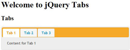 Creating Horizontal Tabbed Navigation using jQuery