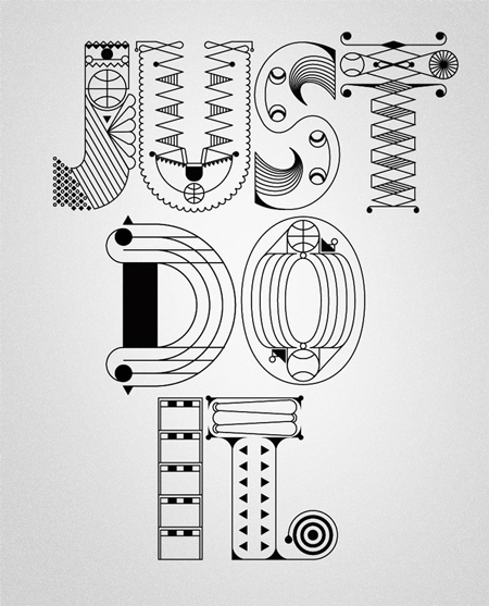 Nike type illustration