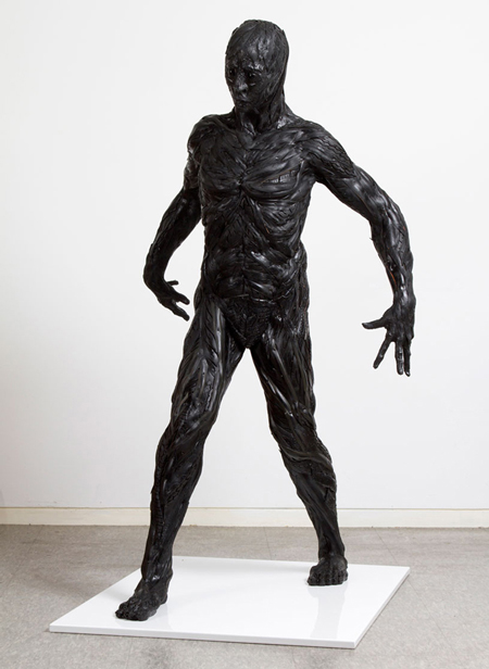 Hybrid-human tire sculptures by Yong Ho Ji