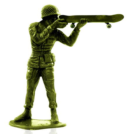 Skating toy soldiers