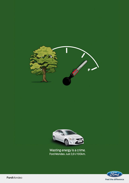 Ford energy waste creative ads