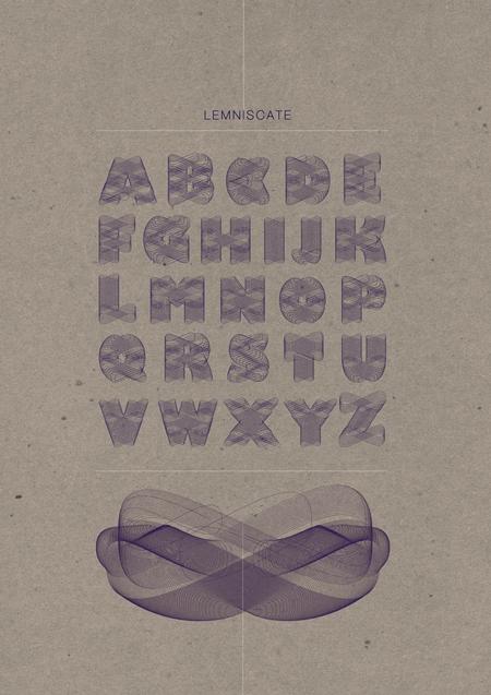 Lemniscate typeface