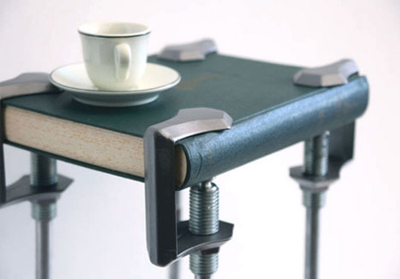 C-clamp tables and seats
