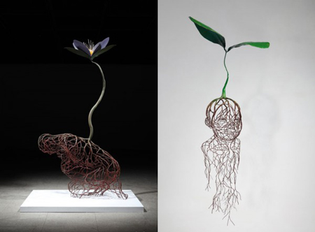 Root Sculptures by Kim Sun Hyuk